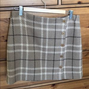 J.Crew tan plaid skirt - size 8